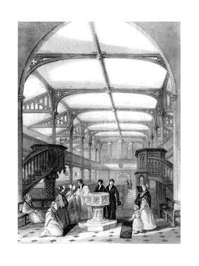 Choir of St Martin's Church, Dorking, Surrey, 19th Century by MJ Starling