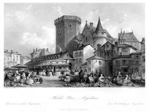 Market Place, Angoulême, France, 19th Century by MJ Starling