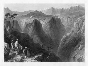 Mount Lebanon, Above the Valley of the Kedesha, or Holy Valley, Lebanon, 1841 by MJ Starling