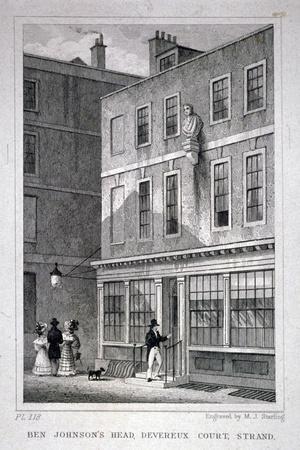 The Ben Johnson's Head Inn, Devereux Court, Westminster, London, C1830