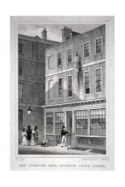 The Ben Johnson's Head Inn, Devereux Court, Westminster, London, C1830 by MJ Starling