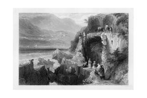 The Tomb of St George, Bay of Kesrouan, Syria, 1841 by MJ Starling