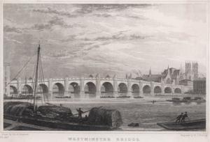 Westminster Bridge 1827 by MJ Starling