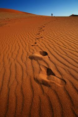 Footprints in the Desert Sand by MJO Photo