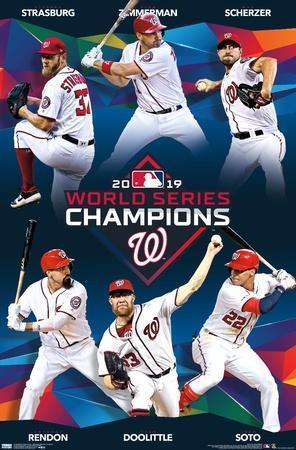 Size: 17 x 21 Washington Nationals 2019 World Series Champions Team Composite Photo Framed