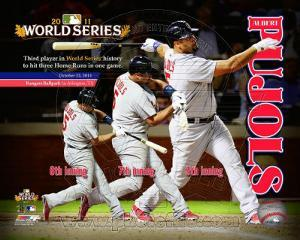 MLB Albert Pujols 3 Home Runs World Series Composite (#24)
