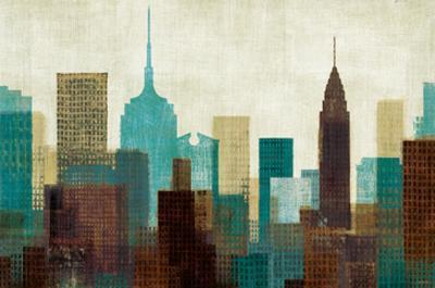 Summer in the City I Blue by Mo Mullan
