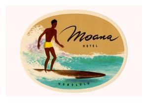 Moana Hotel Luggage Label