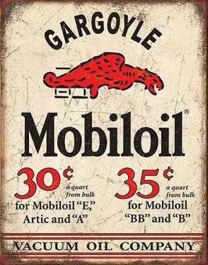 Mobil Gargoyle Distressed Retro Vintage Tin Sign