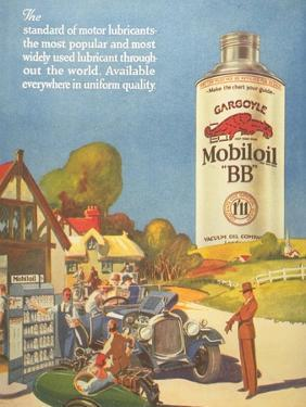 Mobiloil Gas Stations Day Trips, USA, 1920
