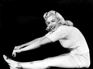 Model and Columbia Starlet Marilyn Monroe, Working Out, ca. 1948