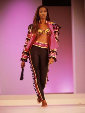 Model Naomi Campbell on Fashion Show Runway