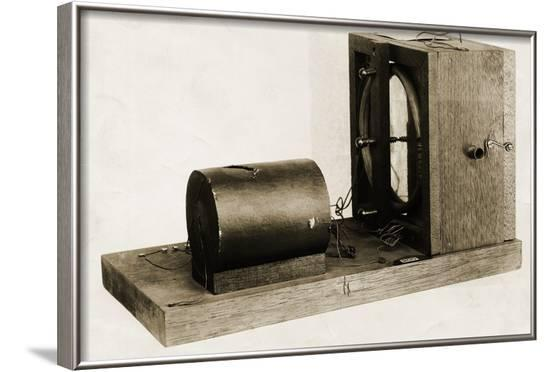 Model of Berliners Original Telephone Made in 1877--Framed Photographic Print