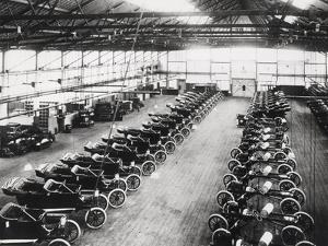 Model T Ford Factory in Trafford Park, Manchester, 1914