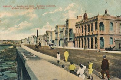 Modern Buildings in Gulf Avenue, Havana, Cuba, C1910