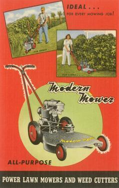 Modern Lawn Mower Advertisement
