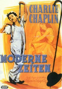 Modern Times, German Movie Poster, 1936