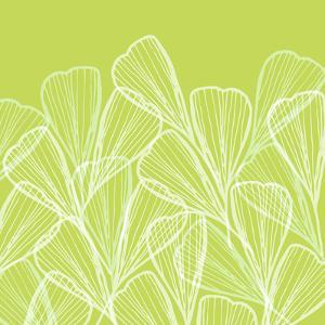 Floral Abstract In Summer Green by Modern Tropical