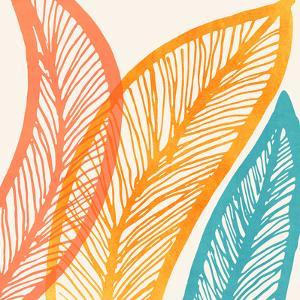 Large Leaf Study Iii by Modern Tropical