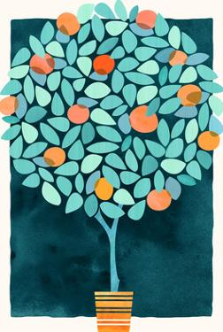 Orange Tree At Midnight by Modern Tropical