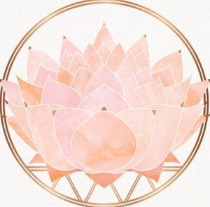 Peach Zen Lotus by Modern Tropical