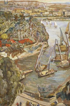 Nile by the Gala'A Bridge, 1942