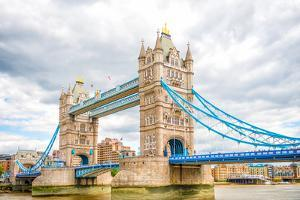 London Tower Bridge on Thames River by Mohana AntonMeryl