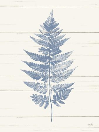 Fern Print I Blue Crop by Moira Hershey