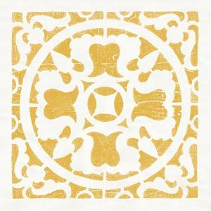 Hacienda Tile I Golden Yellow by Moira Hershey