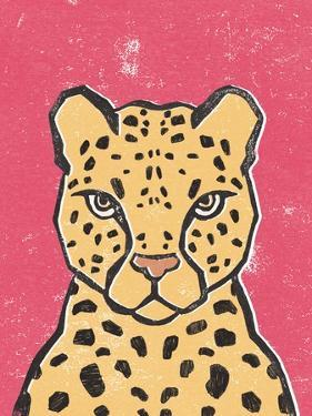 Jungle Cat Hot Pink by Moira Hershey