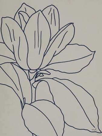 Magnolia Line Drawing v2 Gray Crop