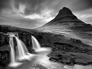 3 Waterfalls BW by Moises Levy