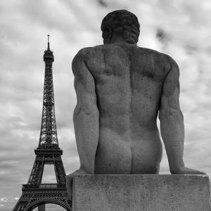 Eiffel and Man by Moises Levy