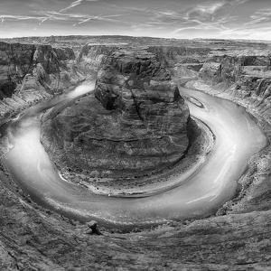 Horseshoe Bend BW 2 of 3 by Moises Levy