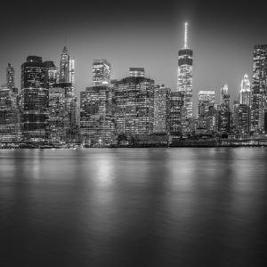 Manhattan Skyline Night-Edit-3 by Moises Levy