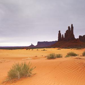 Monument Valley Panorama 1 2 of 3 by Moises Levy
