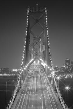 Oakland Bridge 3 BW by Moises Levy