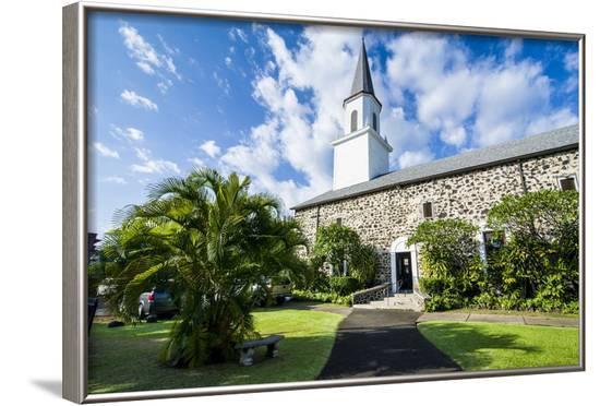 Mokuaikaua Church, Kailua-Kona, Big Island, Hawaii, United States of America, Pacific-Michael-Framed Photographic Print