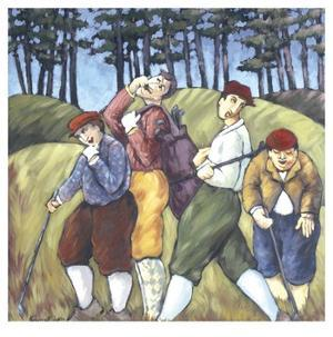 The 4 Golfers by Molayem Rebecca
