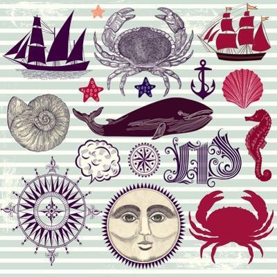 Nautical And Sea Symbols by Molesko Studio