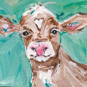 Heart Head Cow by Molly Susan