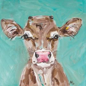 Pink Nosed Cow by Molly Susan