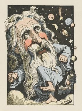 God Surrounded by Stars and Planets by Moloch