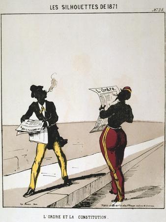 L'Ordre Et La Constitution, 1871, from Series 'Les Silhouettes De 1871', Paris Commune
