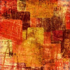 Squares On The Grunge Wall, Abstract Background by molodec