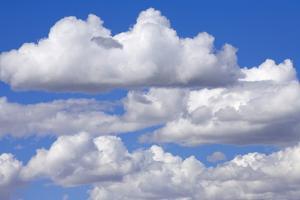 Cumulus Clouds Floating in Clear Blue Sky in Fall by Momatiuk - Eastcott