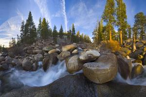 Dramatic Landscape of Huge Boulders and Rapids in River Bed, California by Momatiuk - Eastcott