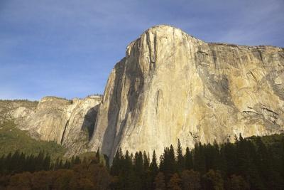 Majestic Sheer Rocky Wall of El Capitan, Yosemite National Park, California