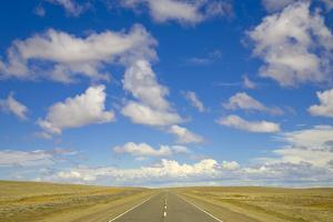 Paved Highway across Pampas by Momatiuk - Eastcott