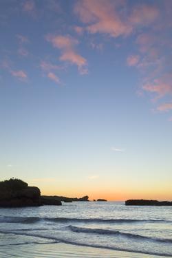 Sunset on Beach, South Island, New Zealand by Momatiuk - Eastcott